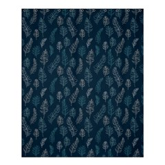 Whimsical Feather Pattern, Midnight Blue, Shower Curtain 60  x 72  (Medium)