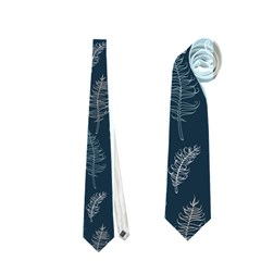 Whimsical Feather Pattern, Midnight Blue, Necktie (two Side)