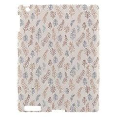 Whimsical Feather Pattern, Nature brown, Apple iPad 3/4 Hardshell Case
