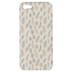 Whimsical Feather Pattern, Nature brown, Apple iPhone 5 Hardshell Case