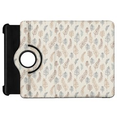 Whimsical Feather Pattern, Nature brown, Kindle Fire HD Flip 360 Case