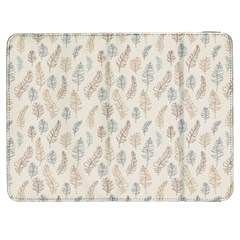 Whimsical Feather Pattern, Nature brown, Samsung Galaxy Tab 7  P1000 Flip Case