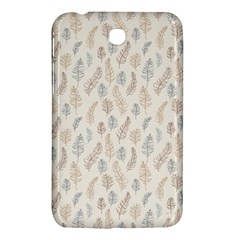 Whimsical Feather Pattern, Nature Brown, Samsung Galaxy Tab 3 (7 ) P3200 Hardshell Case