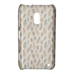Whimsical Feather Pattern, Nature brown, Nokia Lumia 620 Hardshell Case