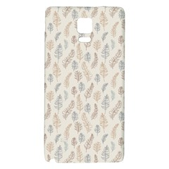 Whimsical Feather Pattern, Nature brown, Samsung Note 4 Hardshell Back Case