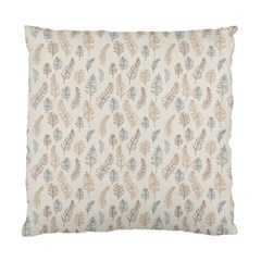 Whimsical Feather Pattern, Nature brown, Standard Cushion Case (Two Sides)