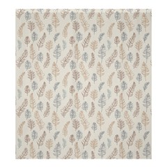 Whimsical Feather Pattern, Nature brown, Shower Curtain 66  x 72  (Large)