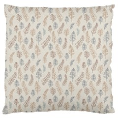 Whimsical Feather Pattern, Nature brown, Large Flano Cushion Case (One Side)