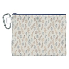 Whimsical Feather Pattern, Nature brown, Canvas Cosmetic Bag (XXL)
