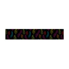 Whimsical Feather Pattern, Bright Pink Red Blue Green Yellow, Flano Scarf (mini)
