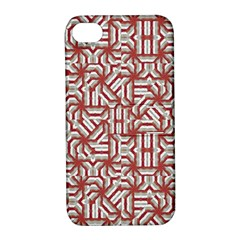 Interlace Tribal Print Apple iPhone 4/4S Hardshell Case with Stand