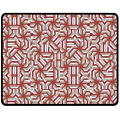 Interlace Tribal Print Double Sided Fleece Blanket (Medium)