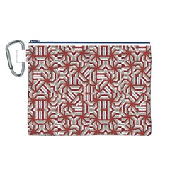 Interlace Tribal Print Canvas Cosmetic Bag (L)
