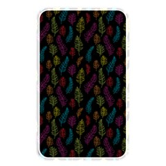 Whimsical Feather Pattern, bright pink red blue green yellow, Memory Card Reader (Rectangular)