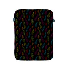 Whimsical Feather Pattern, bright pink red blue green yellow, Apple iPad 2/3/4 Protective Soft Case