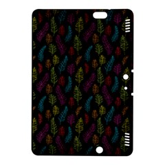 Whimsical Feather Pattern, bright pink red blue green yellow, Kindle Fire HDX 8.9  Hardshell Case