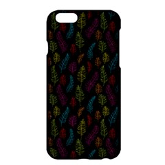 Whimsical Feather Pattern, Bright Pink Red Blue Green Yellow, Apple Iphone 6 Plus/6s Plus Hardshell Case