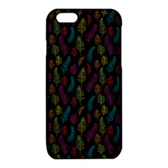 Whimsical Feather Pattern, bright pink red blue green yellow, iPhone 6/6S TPU Case