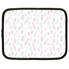 Whimsical Feather Pattern, soft colors, Netbook Case (XXL)