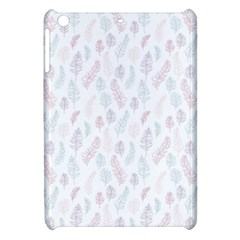 Whimsical Feather Pattern, soft colors, Apple iPad Mini Hardshell Case