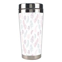 Whimsical Feather Pattern, soft colors, Stainless Steel Travel Tumbler