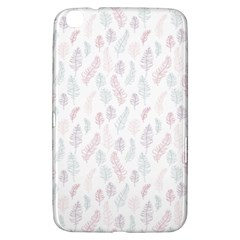Whimsical Feather Pattern, soft colors, Samsung Galaxy Tab 3 (8 ) T3100 Hardshell Case