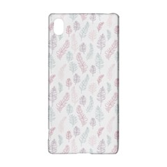 Whimsical Feather Pattern, soft colors, Sony Xperia Z3+ Hardshell Case