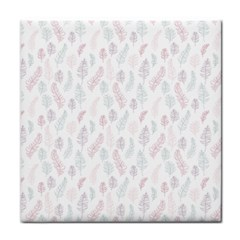Whimsical Feather Pattern, soft colors, Face Towel
