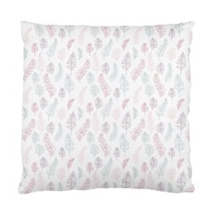 Whimsical Feather Pattern, Soft Colors, Standard Cushion Case (one Side)