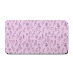 Whimsical Feather Pattern, pink & purple, Medium Bar Mat