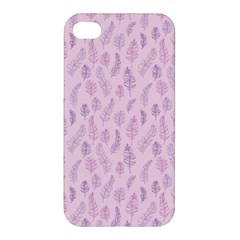 Whimsical Feather Pattern, pink & purple, Apple iPhone 4/4S Hardshell Case