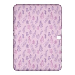 Whimsical Feather Pattern, pink & purple, Samsung Galaxy Tab 4 (10.1 ) Hardshell Case