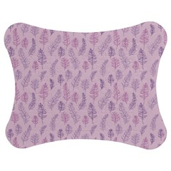 Whimsical Feather Pattern, Pink & Purple, Jigsaw Puzzle Photo Stand (bow)
