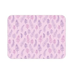 Whimsical Feather Pattern, pink & purple, Double Sided Flano Blanket (Mini)