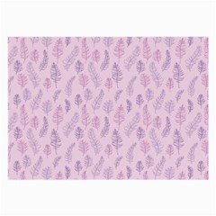 Whimsical Feather Pattern, pink & purple, Large Glasses Cloth (2 Sides)