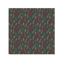 Whimsical Feather Pattern, autumn colors, Small Satin Scarf (Square)