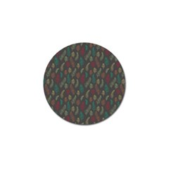 Whimsical Feather Pattern, autumn colors, Golf Ball Marker (4 pack)