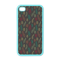 Whimsical Feather Pattern, Autumn Colors, Apple Iphone 4 Case (color)