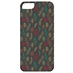 Whimsical Feather Pattern, autumn colors, Apple iPhone 5 Classic Hardshell Case