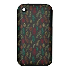 Whimsical Feather Pattern, autumn colors, Apple iPhone 3G/3GS Hardshell Case (PC+Silicone)