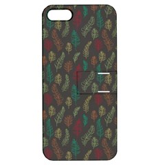 Whimsical Feather Pattern, autumn colors, Apple iPhone 5 Hardshell Case with Stand