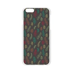 Whimsical Feather Pattern, autumn colors, Apple Seamless iPhone 6/6S Case (Transparent)
