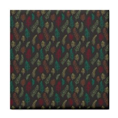 Whimsical Feather Pattern, autumn colors, Face Towel