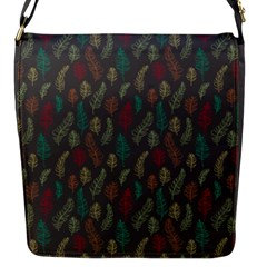 Whimsical Feather Pattern, Autumn Colors, Flap Closure Messenger Bag (s)