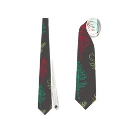 Whimsical Feather Pattern, autumn colors, Necktie (Two Side)