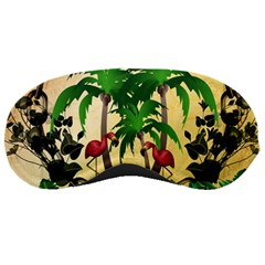 Tropical Design With Flamingo And Palm Tree Sleeping Masks