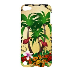 Tropical Design With Flamingo And Palm Tree Apple iPod Touch 5 Hardshell Case