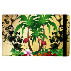 Tropical Design With Flamingo And Palm Tree Apple iPad 3/4 Flip Case