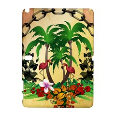 Tropical Design With Flamingo And Palm Tree Samsung Galaxy Note 10.1 (P600) Hardshell Case