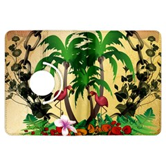 Tropical Design With Flamingo And Palm Tree Kindle Fire HDX Flip 360 Case
